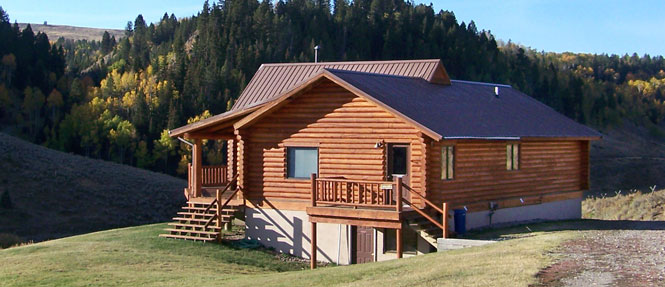 Sagebrush lodge wilderness edge Yellowstone log cabin hotel